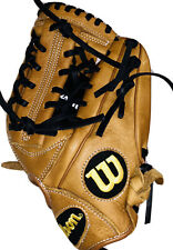 "Wilson A950 Adult Leather Baseball Glove New 11.75"" Broken In Ready Infield Tan"