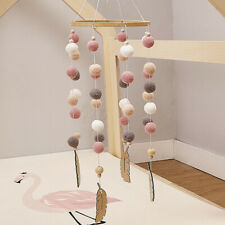 Baby Rattle Mobile Toys Plush Beads Crib Toy Wind Chimes Bell Nordic Style Gift