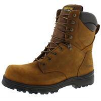 Carolina Mens Brown Leather Steel Toe Work Boots Shoes 11.5 Medium (D) BHFO 4497
