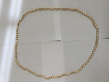 """G Silver Vintage Pearl Necklace 39"""" marked """"G Silver"""" and """"PATP"""""""