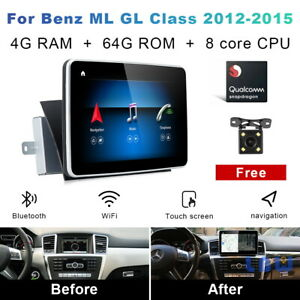For Mercedes Benz ML W166 GL X166 2012-2015 Android 10 Car GPS Wireless Carplay