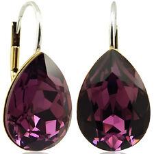 Ohrringe mit kristallen Von Swarovski lila Gold NOBEL schmuck