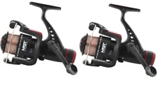2 x NGT CKR CARP COARSE FLOAT FEEDER FISHING REELS  WITH LINE