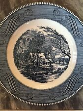 "Vintage Currier & Ives 10"" Dinner Plates Royal Ironside LOT OF 10"