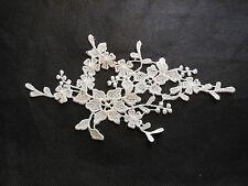 Off White bridal floral lace Applique/wedding lace motif for sale.20x10cm by pcs