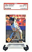 1993 Donruss Pirates HR King BARRY BONDS Baseball Card PSA 10 GEM MINT / Pop 23