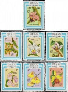 Laos 838-844 (complete issue) unmounted mint / never hinged 1985 Flowers