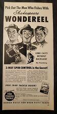 1940s Print Ad Shakespeare Wondereel Fishing