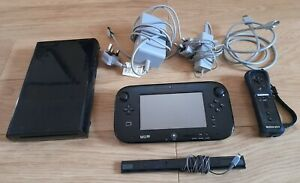 Nintendo Wii U 32GB Black Console System + Gamepad + 1 Remote + All Cables