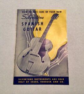 Vintage Silvertone Spanish Guitar Care Manual Pamphlet Sears, Roebuck Co.