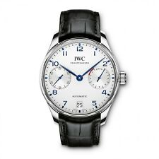 NEW IWC Portugieser Automatic 7 Day Power Reserve Stainless Steel Watch IW500705