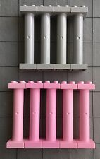 Lot Of 9 Lego Duplo Pink And Grey Support Columns Posts Pillars