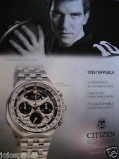 "2008 Citizen Eco Drive Watch Ad-8.5 x 10.5""-Eli Manning-PRINT AD-Unstoppable"