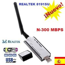 ADAPTADOR WIFI N USB 300 MB Mbps ANTENA Realtek RTL8191 VIDEO TV wireless b/g/n