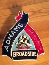 Adnams Broadside beer pump clip