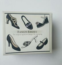 FANCY SHOES Set Of 6 Stencil Prints Rubber Stamps by Hero Arts 1 Pack NEW