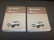 2005 Lexus LX470 SUV Workshop Shop Service Repair Manual Book Set 4.7L V8