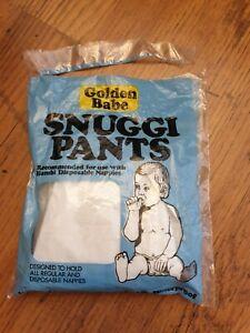 Vintage Golden Babe Snuggi Pants.baby Plastic Pants.