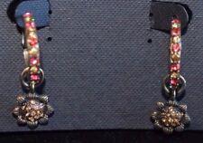 Cookie Lee  - Vivi Vintage Coral Earrings, Clutchless hoops  - NWT / NOS