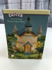 Easter Hand Painted Porcelain Lighted House Home Decoration Collectibles
