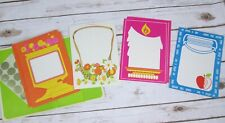Vintage Current Fold Over Note Card Set Retro Mid Century Mod Bright Flower Pink