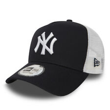 NEW ERA MEN BASEBALL CAP.MLB NEW YORK YANKEES CLEAN A FRAME MESH TRUCKER HAT 936
