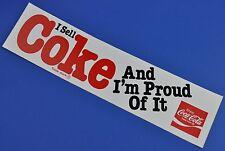 COCA COLA autocollant USA de 1980 decal - I Vends Coke And I'm Proud of It