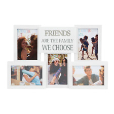 Celebrations 5 Pictures Collage Photo Frame with Metal Words Friends Gift Idea