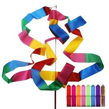 10 x Colors Gym Dance Ribbon Rhythmic Art Gymnastic Streamer Baton Twirling Rod