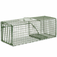 Humane Animal Trap 26x9x9 Steel Cage Live Rodent Control Skunk Rabbit Opossum
