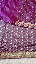 Pure Banarasi purple Treditional Silk Saree
