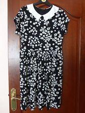 ladies dress New Look small medium 10 12 black daisy print