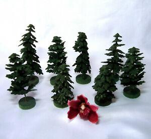 Weihnachtsdeko Konvolut 8 Bäume Deko Weihnachtschmuck Holz Beisteller / df 585