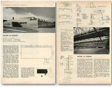 1959 Factory At Peterlee, Architect Jh Napper Design, Plans