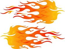 PAIR OF FLAMES decal sticker Hot Rod car Truck Go Kart boat motorcycle full