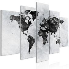 Mappa del mondo Quadro su Tela in TNT Stampe Immagini Murale Quadri k-A-0431-b-m