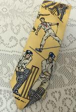 Polo Ralph Lauren Yellow 100% Italian Silk Men's Tie Cricket Players Virat