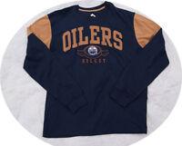 Edmonton Oilers Hockey NHL Mens Long Sleeve Jersey Shirt Large L