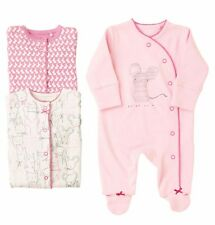 ВNWT NEXT Babygrows Outfit • Pink Character Sleepsuits 3pk •100% Cotton • 0-3Mon