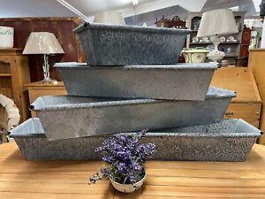 Galvanised zinc metal trough / planter / window box 6 sizes