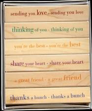 HERO ARTS rubber stamp set THOUGHTFUL MESSAGES wood mounted, Sentiments, LL084