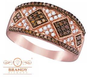 Brandy Diamond® Chocolate Brown 10K Rose Gold Diamond Fine Design Ring