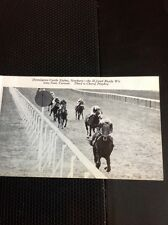 L1-3 Ephemera 1968 Small Picture Horse Racing Newbury Ready Wit Vervain