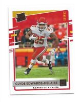 2020 Donruss Football Canvas Rated Rookie Clyde Edwards-Helaire RC Chiefs