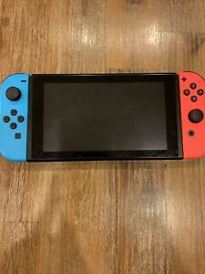 Nintendo Switch Blue And Red Joycons with Case