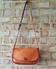 COACH VTG CITY BAG Distressed British Tan Leather US Regis # CROSSBODY 9790 OOAK