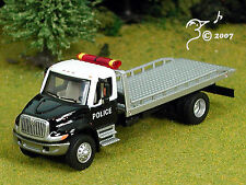 Die Cast International 4300 Police Flatbed Tow Truck HO 1:87 by Boley