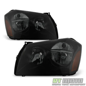 Black Smoke 2005-2007 Dodge Magnum SE SRT SXT RT Headlights Headlamps Left+Right