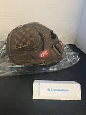 """New listing Brand New Brown Leather Rawlings Youth Baseball Glove 12.5"""" Model P125BFL"""