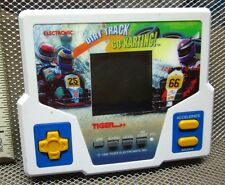 ELECTRONIC DIRT TRACK Go Karting hand-held video-game Tiger 1992 LCD